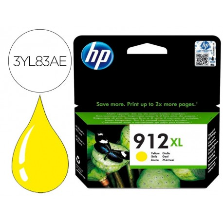 Ink-jet hp 912 xl officejet 8010 / 8020 / 8035 amarillo 825 pag