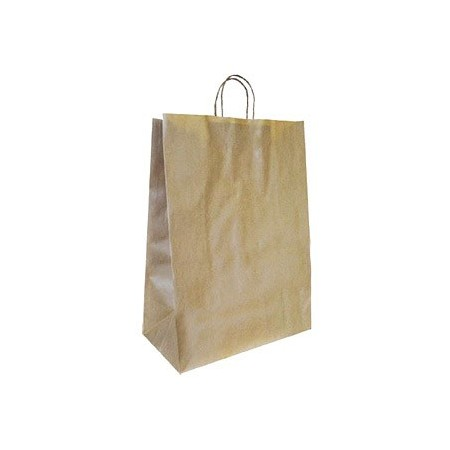 Bolsa kraft q-connect reciclado asa retorcida 240x100x310 mm (Pack de 25 uds.)