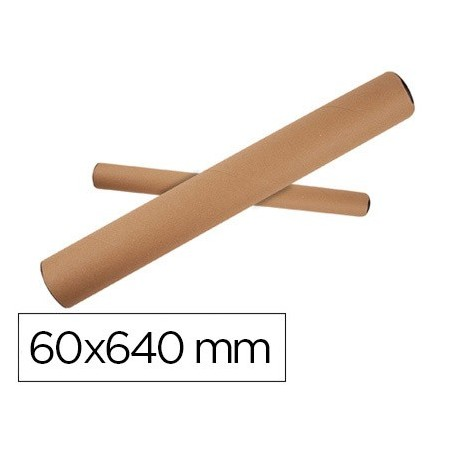 Tubo de carton q-connect portadocumentos tapa plastico 60x640 mm