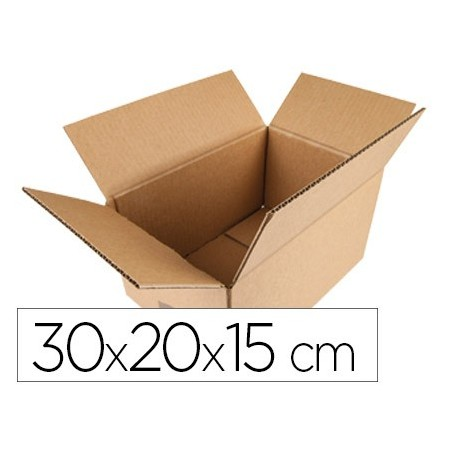Caja para embalar q-connect americana medidas 300x200x150 mm espesor carton 5 mm (Pack de 20 uds.)
