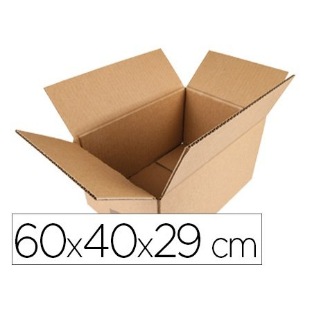 Caja para embalar q-connect americana medidas 600x400x290 mm espesor carton 5 mm (Pack de 20 uds.)