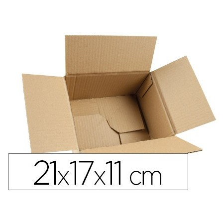 Caja para embalar q-connect fondo automatico medidas 210x170x110 mm espesor carton 3 mm (Pack de 5 uds.)