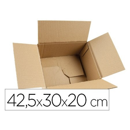 Caja para embalar q-connect fondo automatico medidas 425x300x200 mm espesor carton 3 mm (Pack de 5 uds.)