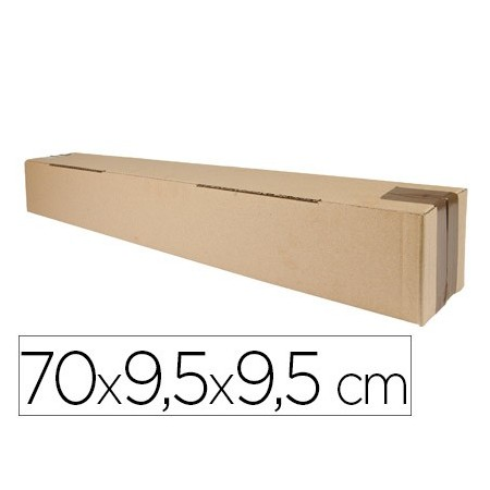 Caja para embalar q-connect tubo medidas 725x95x95 mm espesor carton 3 mm (Pack de 5 uds.)