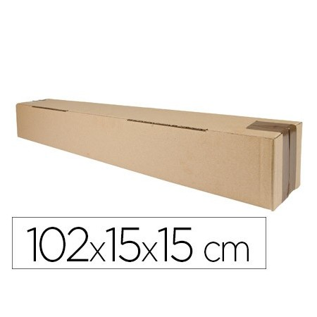 Caja para embalar q-connect tubo medidas 1020x150x150 mm espesor carton 3 mm (Pack de 5 uds.)