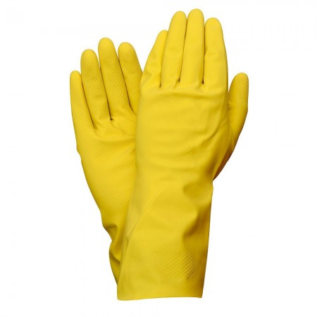 Guantes Latex 100% Basic Domesticos L
