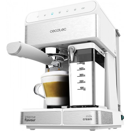 Cafetera semiautomática Power Instant-ccino 20 Touch Serie Bianca Cecotec