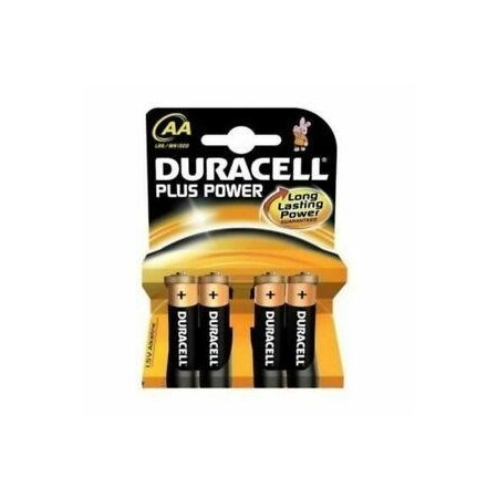 DURACELL PILAS PLUS POWER LR06 ALCALINAS AA 15V PACK-4