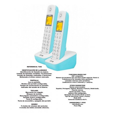 TELEFONOS DECT 7282A DUO