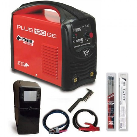 INVERTER PLUS120GE + 2BLISTER ELECTRODO RUTILO 2.5MM 120AMP 30% STAYER