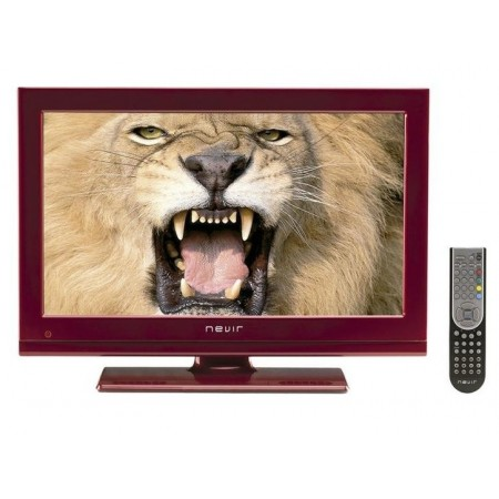 "Tv Nevir Led Nvr7522 22""inch"" 55,88 Cms Hdr Rojo Full Hd Tdt Hd Usb Hdmi"