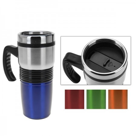 MUG TERMO METAL 400ML COLORES