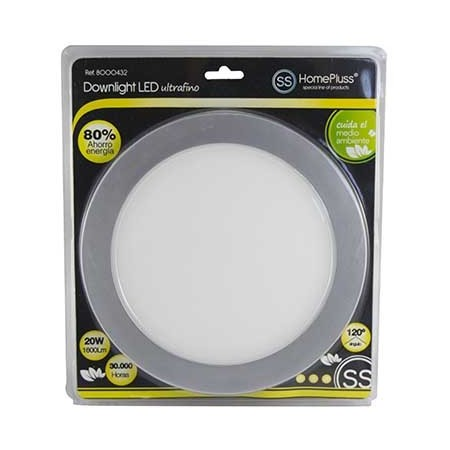 DOWNLIGHT LED PLANO 20W NIQUEL L/NEUTRA