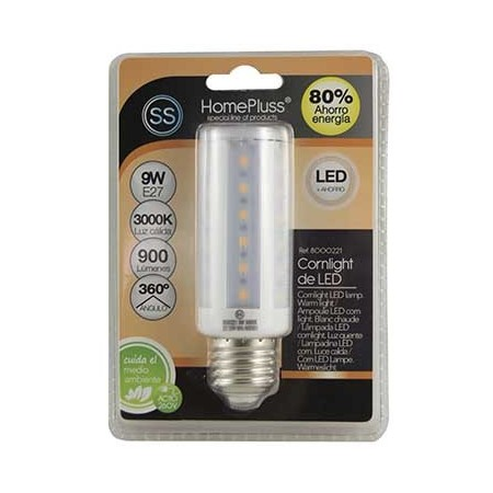 LAMPARA 40LED CORNLIGHT 9W E27 L/CALIDA