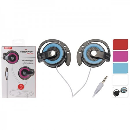 AURICULARES DEPORTIVOS 1,2M. BLISTER