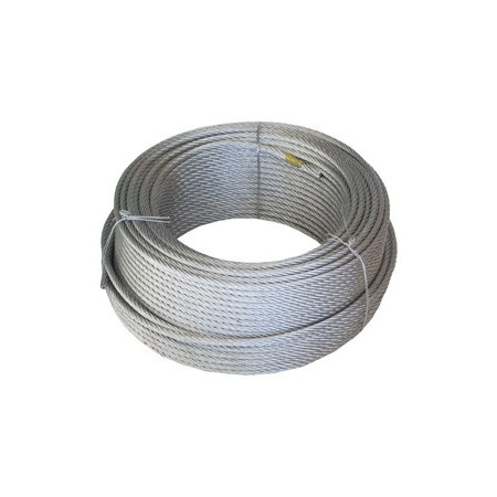 R/_/100mt. CABLE ACERO 5mm.GALV.(6X7X1)