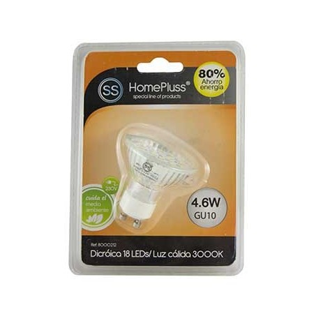 L/CALIDA LAMPARA 18LED GU/_/10 4.6W DICRO