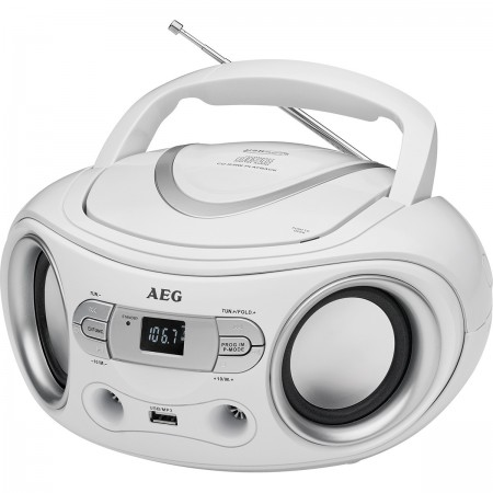 AEG Radio CD/MP3/USB SR 4374 blanco