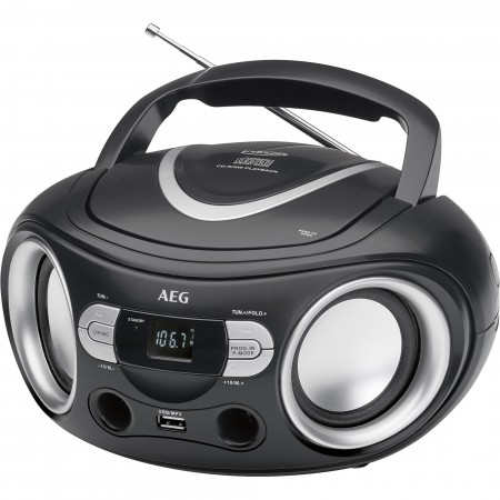 AEG/_/Radio/_/CD/MP3/USB/_/SR4374/_/negro