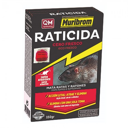 Estuche raticida cebo fresco 150gr