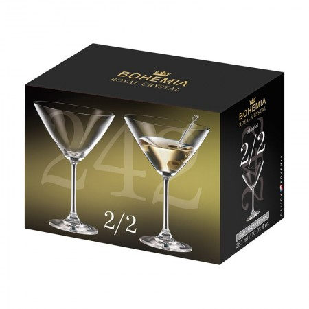 Copas martini 285 ml estuche 2