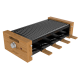 Raclette Cheese&Grill 8200 Wood Black Cecotec